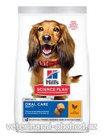Psi - krmivo - Hills - Hill's Can.Dry SP Oral Care Adult Medium Chicken