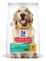 Psi - krmivo - Hills - Hill's Can.Dry SP Perf.Weight Adult Large Chicken