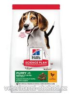 Psi - krmivo - Hills - Hill's Can.Dry SP Puppy Medium Chicken